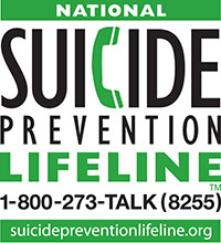 National Suicide Prevention Lifeline 1-800-273-8255 suicidepreventionlifeline.org