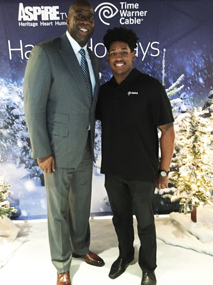 Darius Saunders with Magic Johnson