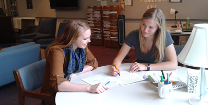 Students in Writing Center