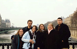 The group of students abroad in Paris!