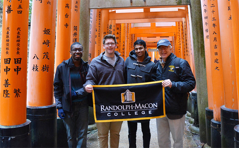 RMC President Lingren and 3 students in Japan