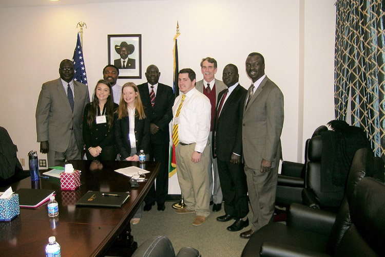 Model AU team Embassy of South Sudan