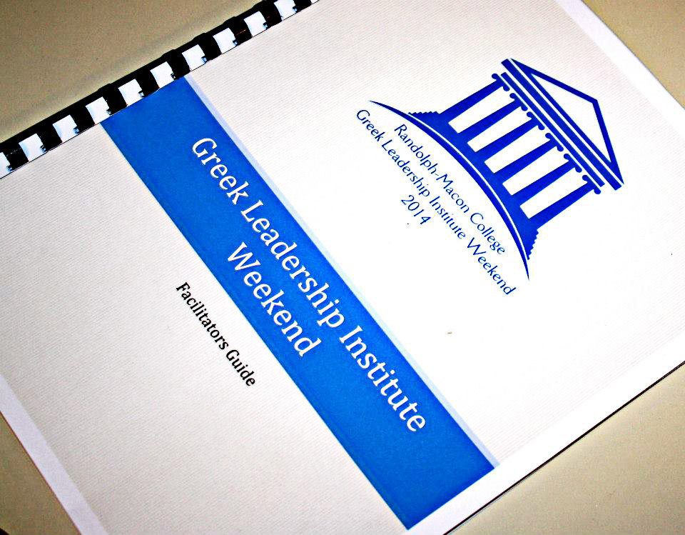 Greek Leadership Institute Weekend Facilitator's Guide Handbook Cover