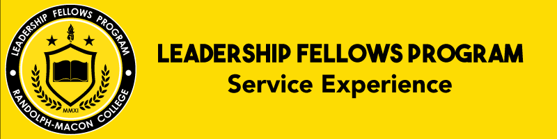 Leadership Fellows Program   Service Experience banner