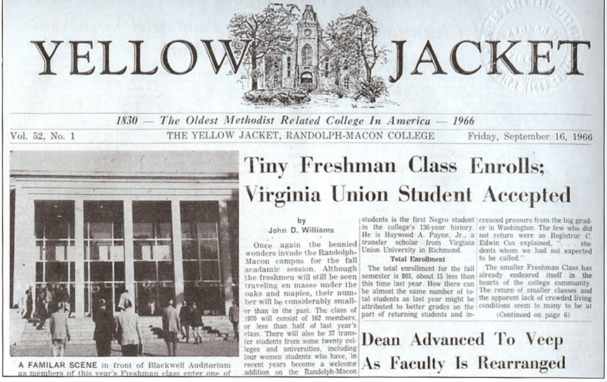 Yellow Jacket Article VA Union Student Accepted